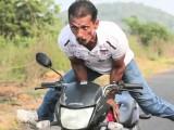 joga na motocyklu z