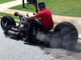 motocykl z silnikiem diesla z