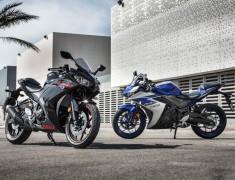 Yamaha YZF R3 czarna i niebieska z