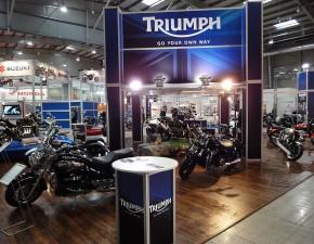 triumph stoisko 4 ogolnopolska wystawa motocykli i skuterow 2012