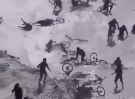 Wielka draka na stoku narciarskim [VIDEO]