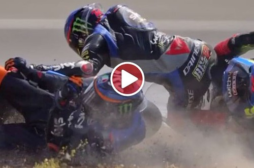 MotoGP: Marini i Bezecchi - gratulacje na mecie i radość aż po… asfalt [VIDEO]