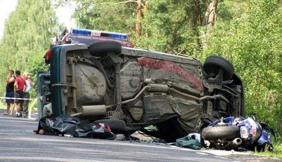Zderzenie motocykla z samochodem - dwie osoby nie żyją