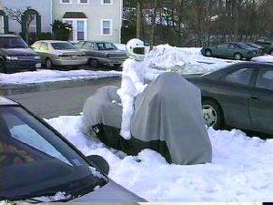 Garażowanie motocykla w zimie