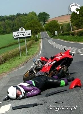 Statystyki wypadków na motocyklach w 2008