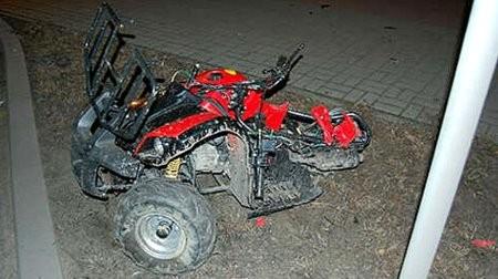 Wypadek quada - pasażer ginie na miejscu