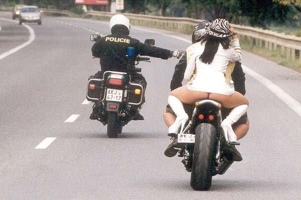 Kontrola drogowa - Policja a motocykliści