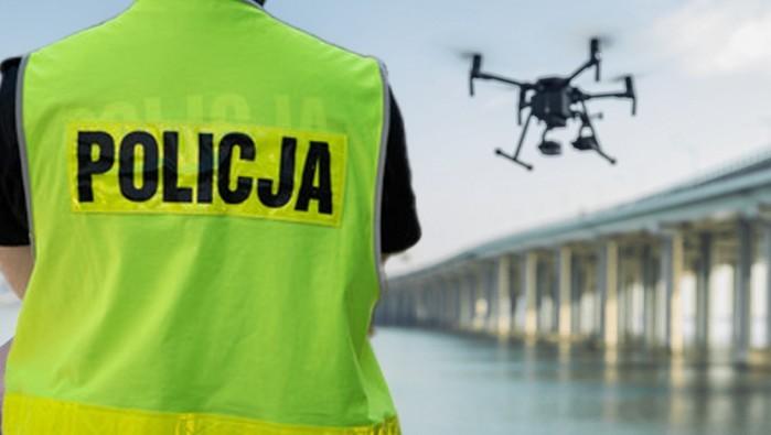 drony policja w warszawie z