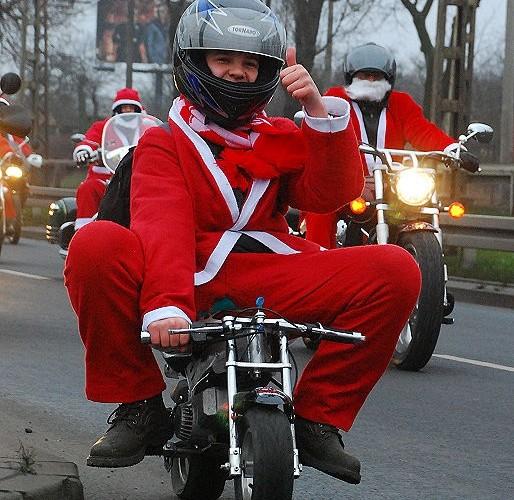 Mikolaj na Najmniejszym motocyklu