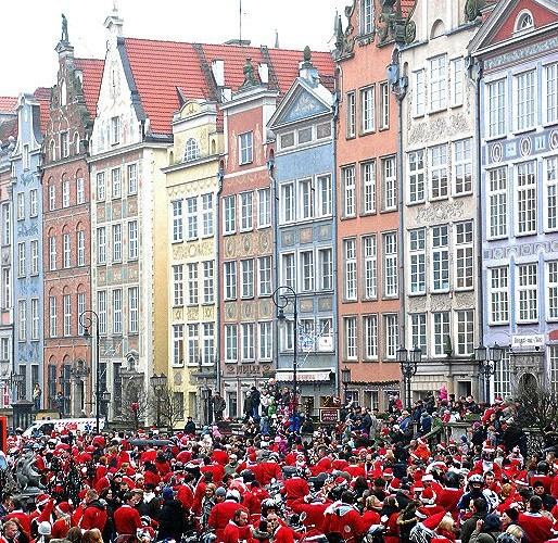 Mikolaje na rynku w Gdansku