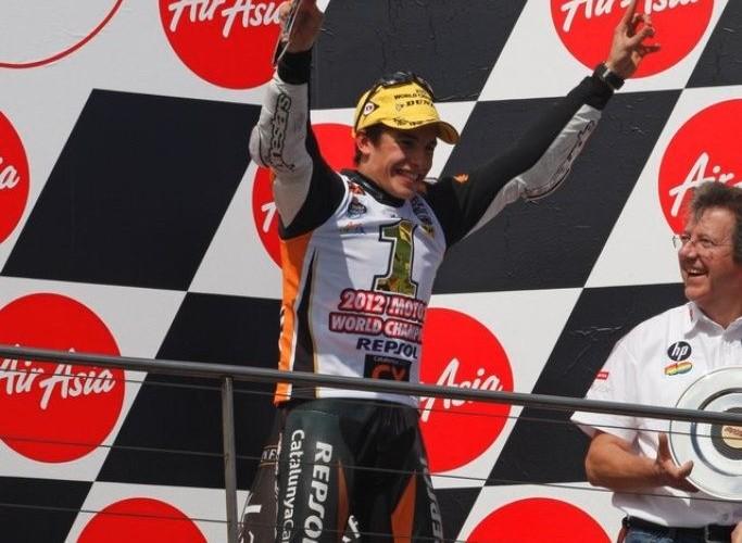 Marc Marquez 2012 na podium