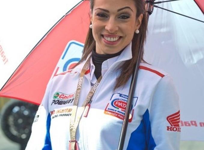 Dziewczyna Hondy World Superbike Assen 2013
