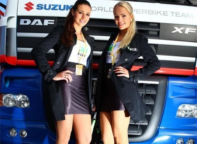 Dziewczyny Suzuki World Superbike Assen