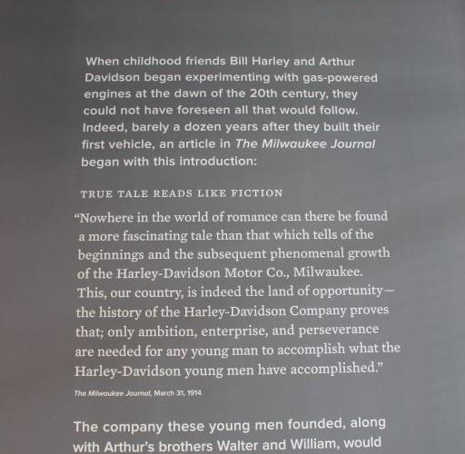Harley tablica informacyjna