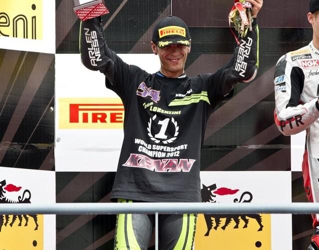 Lorenzini podium