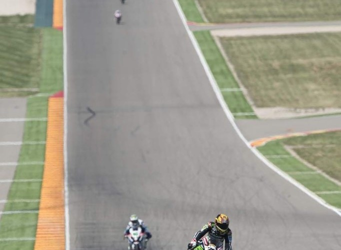 Hamowanie World Superbike Aragon 2013