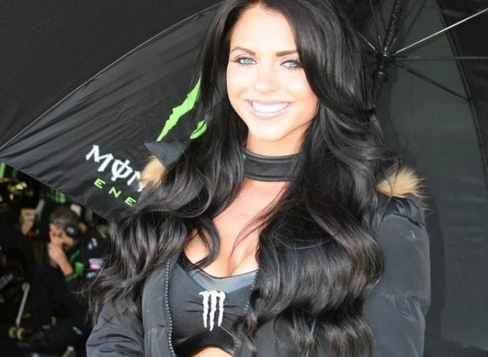 Monster dziewczyna Grand Prix Silverstone 2013