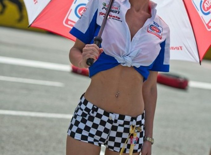 Dziewczyna Pata Honda WSBK Monza 2013