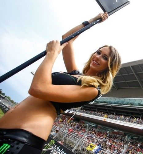 blondynka MotoGP Catalunya 2014