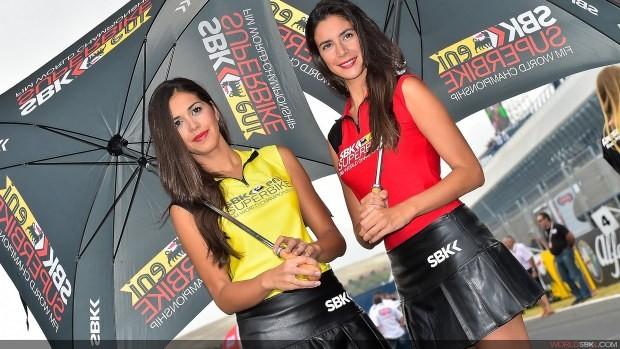 dziewczyny z parasolami paddock girls sbk jerez 2014