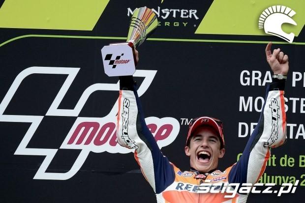 Marquez na podium MotoGP Catalunya 2014