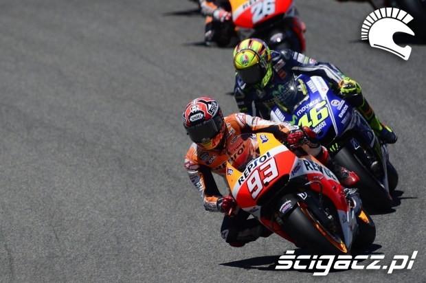 Marquez i Rossi motogp Jerez 2014
