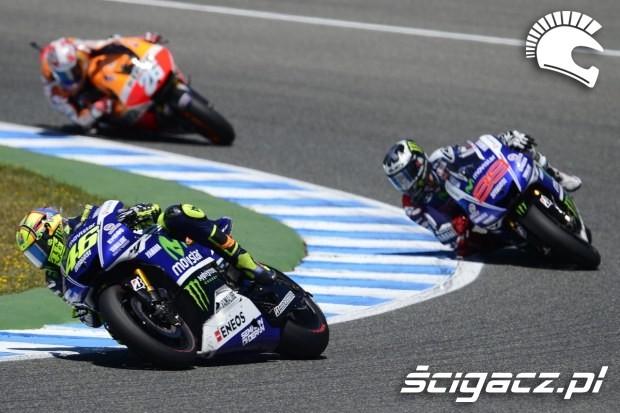 Rossi Lorenzo i Pedrosa motogp Jerez 2014