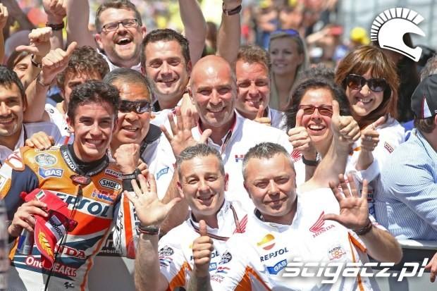 Marquez z teamem MotoGP Mugello