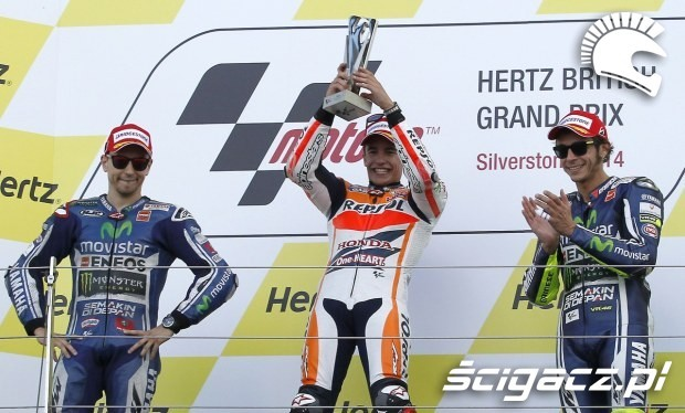 podium motogp silverstone 2014