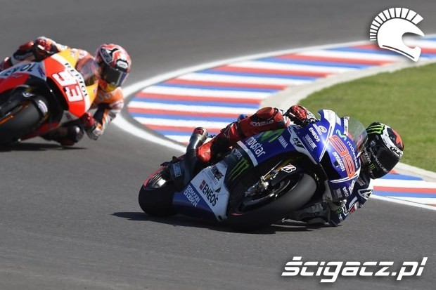 Jorge Lorenzo i Marc Marquez motogp 2014 argentyna