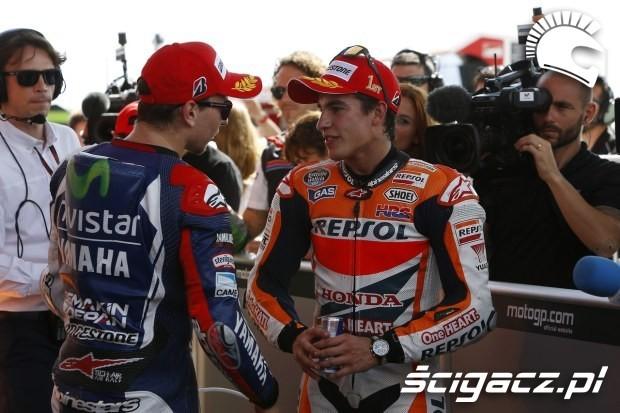 Jorge lorenzo i Marc Marquez motogp argentyna 2014
