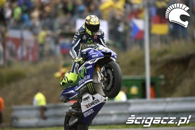 Rossi w akcji motogp brno 2014