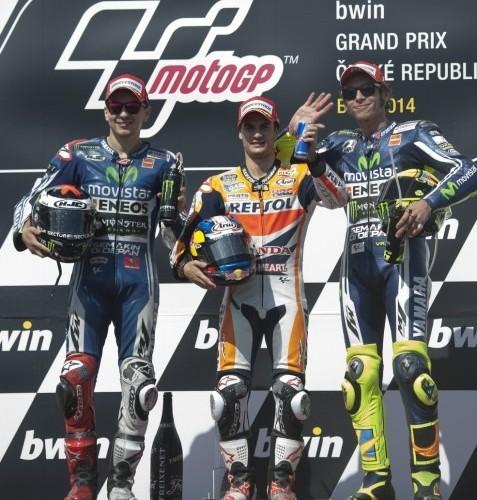 podium motogp brno 2014