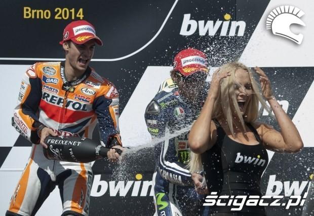 szampan motogp brno 2014