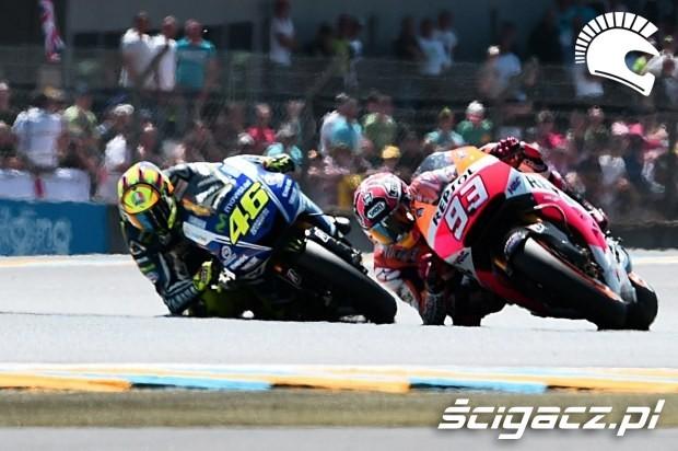 Marquez i Rossi motogp le mans 2014
