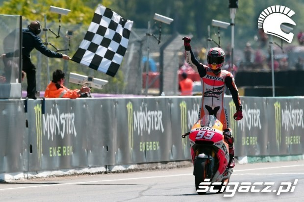 cieszacy sie Marquez motogp le mans 2014