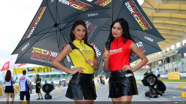 dziewczyny z parasolkami paddock girls sepang 2014