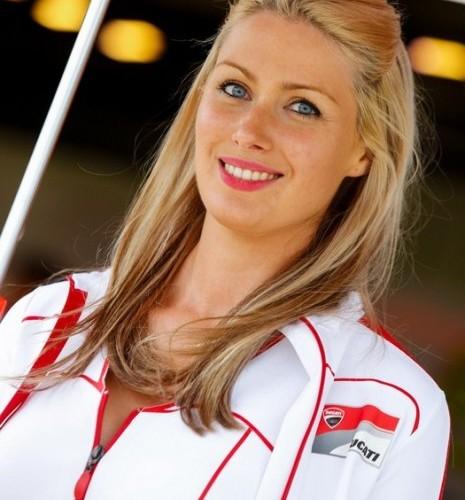 dziewczyna Ducati paddock girls silverstone 2014