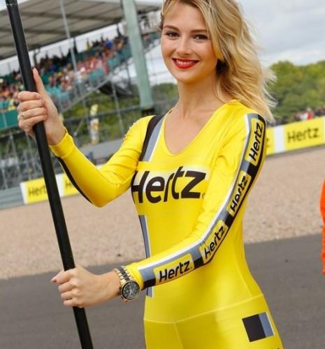 dziewczyna Hertz paddock girls silverstone 2014