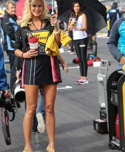 sliczna modelka paddock girls silverstone 2014