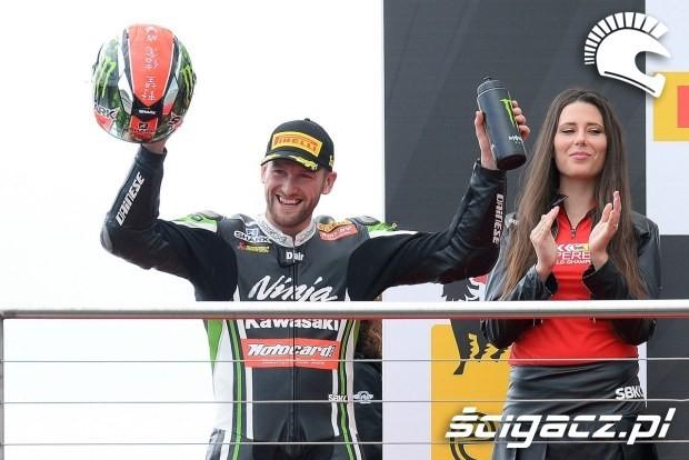 Sykes na podium Donington 2014