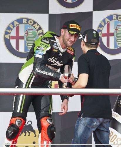 Sykes na podium sbk jerez 2014