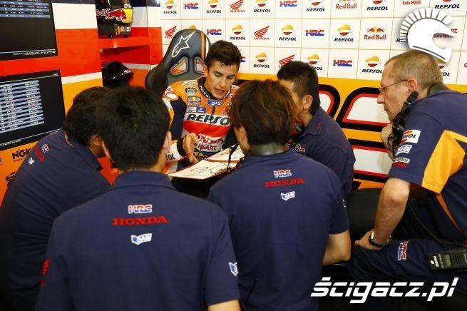Marquez w boxie