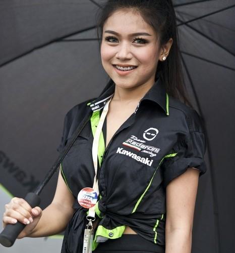 kawasaki supersport hostessa wsbk tajlandia