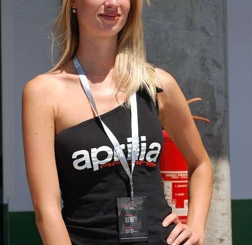 Hostessa Aprilia Racing Brno