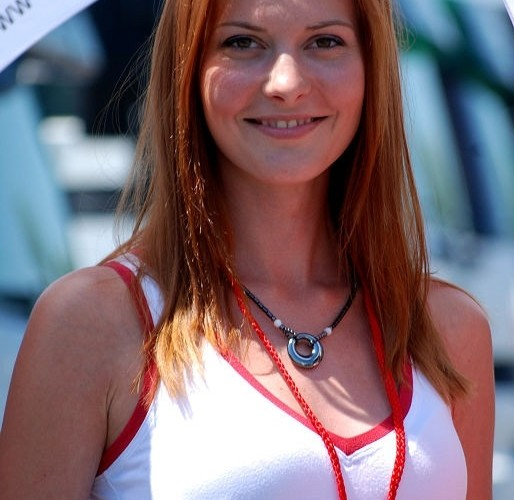 Ruda dziewczyna hostessa Brno