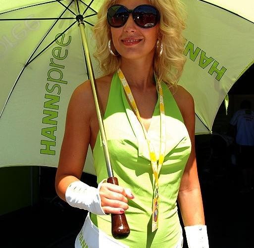 hannspree parasolka Brno WSBK 2010