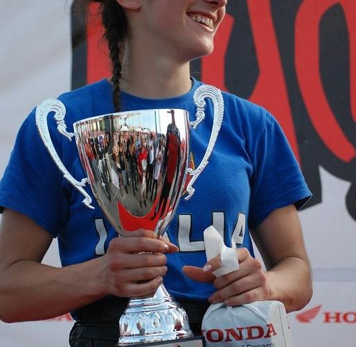 Aleksandra Frost podium