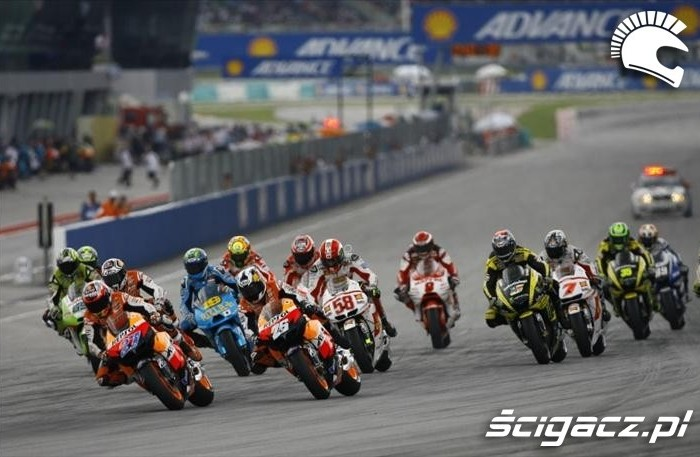MotoGP start wyscigu