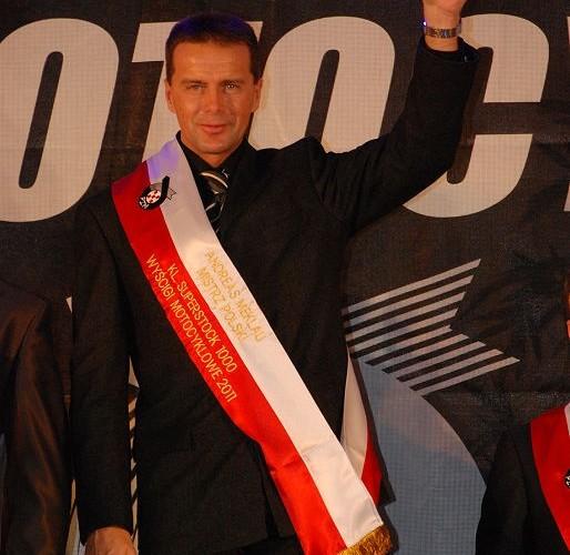 Andy Meklau Mistrz Polski Superstock 1000